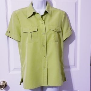 Liz Claiborne Lime Green Blouse